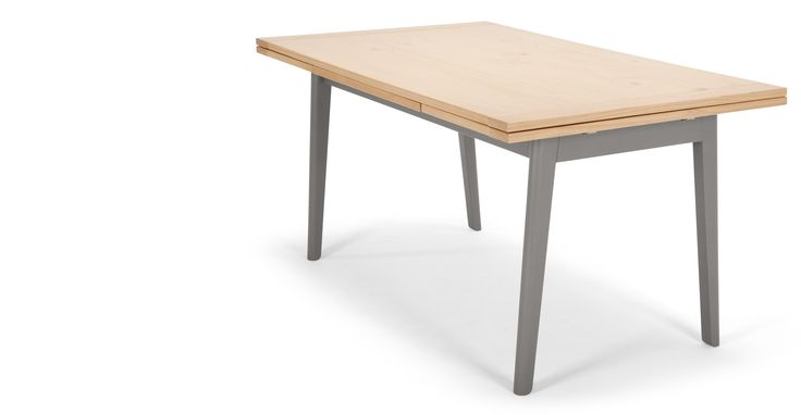 Kleur Extendable Dining Table, Pine and Grey