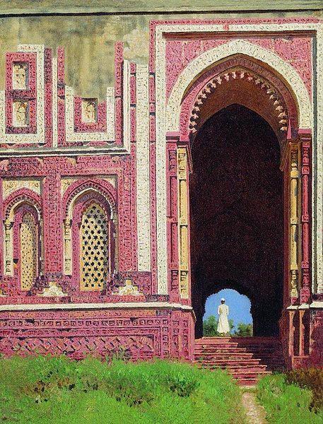 File:Ворота около Кутуб-Минара. Старый Дели.jpg