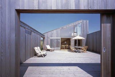 Scandinavian Retreat with a court yard.
