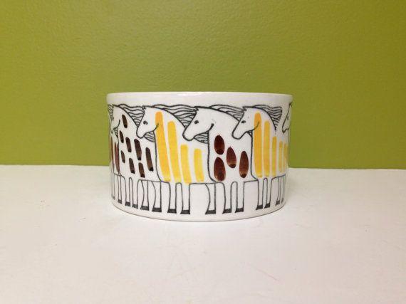 Vintage Upsala Ekeby Gefle Horse Ceramic Dish / $45.00 at MidCenturyMary