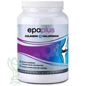 ¡Hola amig@s de Alcampo Farmacia! Epaplus Colágeno + Hialurónico es un complemento alimenticio que tiene como componentes principales ácido hialurónico y colágeno. Os hablamos con más detalle de ello en nuestro blog http://alcampofarmacia.com/mi-blog/epaplus-colageno-hialuronico-420g-es-perfecto-para-ti/