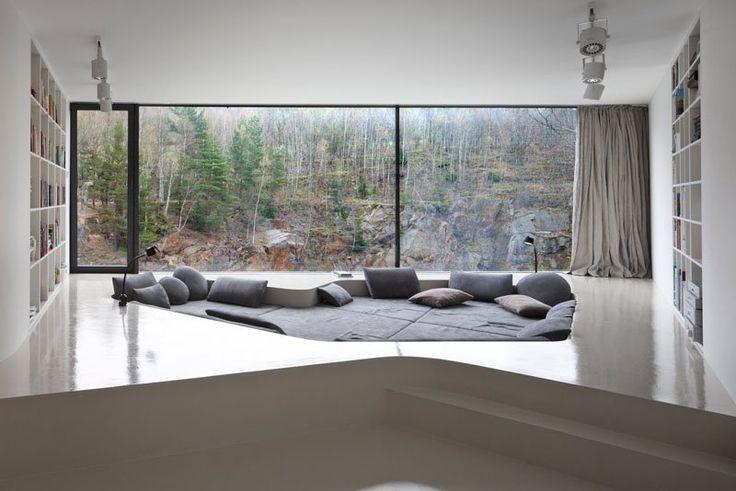 décoration-intérieur-salon-moderne-coin-lecture-enfoncé-fosse-conversation.jpg (800×534)