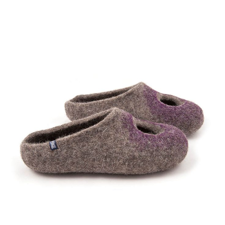 OMICRON purple summer felted slippers | wooppers