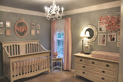 Elegant baby girl nursery