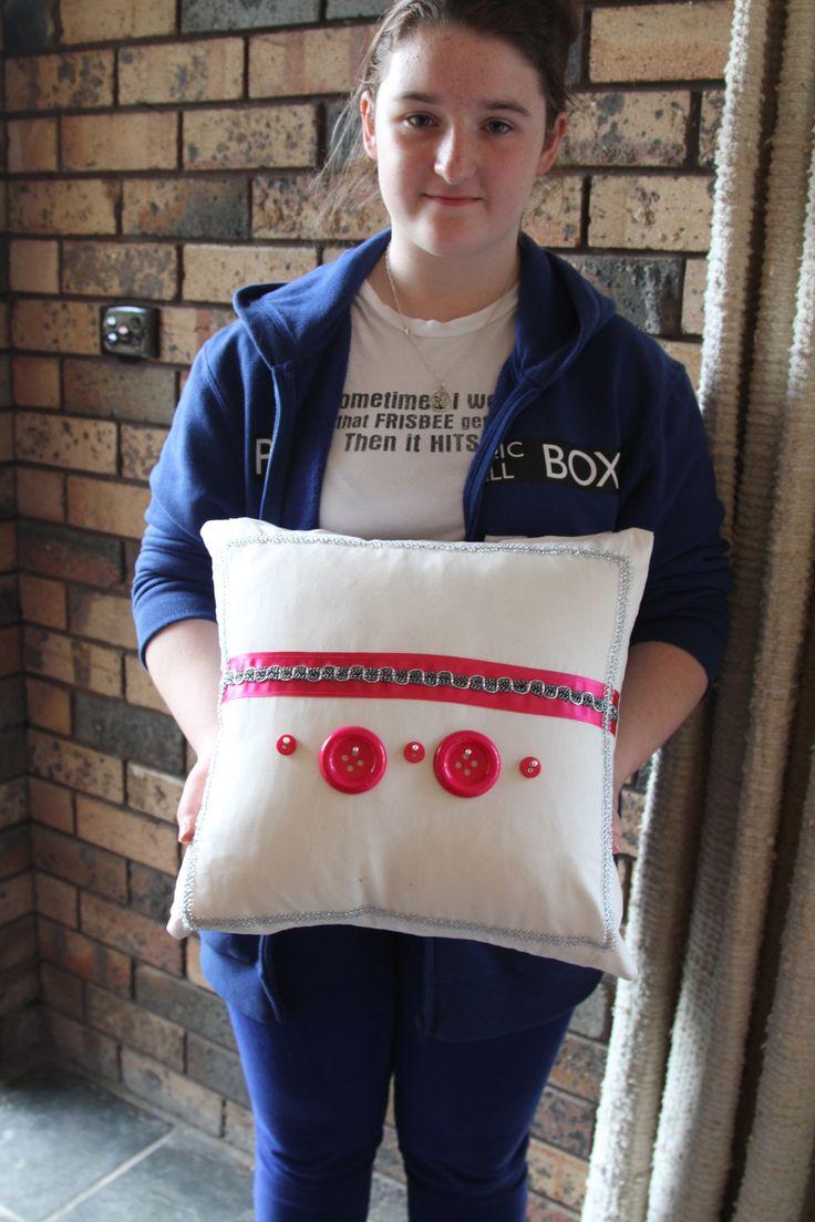 teenage student Cushion project