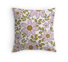vintage floral pattern pillow