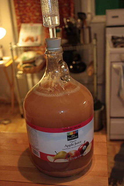 homemade hard cider