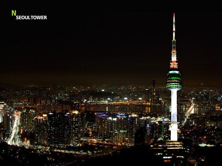 N Seoul Tower in Seoul, Korea.