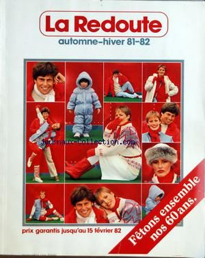 CATALOGUE DE LA REDOUTE A ROUBAIX no: 01/10/1981