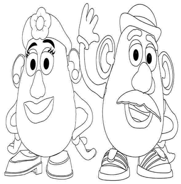 toy story mr potato head coloring pages in google coloring