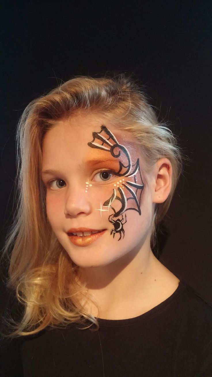 Schminken Kinder Halloween Halloween Eyedesign Spiderweb Niekie Kinder Design Design