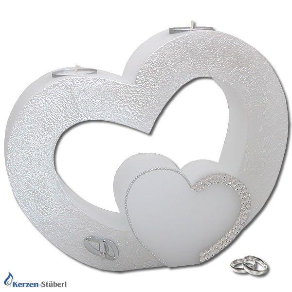 Hochzeitskerze - Herz mit Swarovski Elements | KerzenStüberl