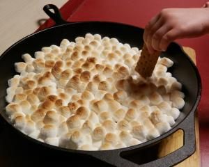 S'mores Dip: I've made this and it's super-easy, if making s'mores the traditional way turns out to be hard to manage for a group.