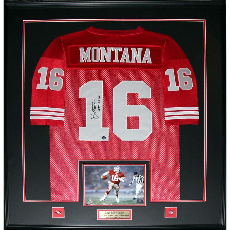 Midway Joe Montana San Francisco 49ers Signed Framed Jersey