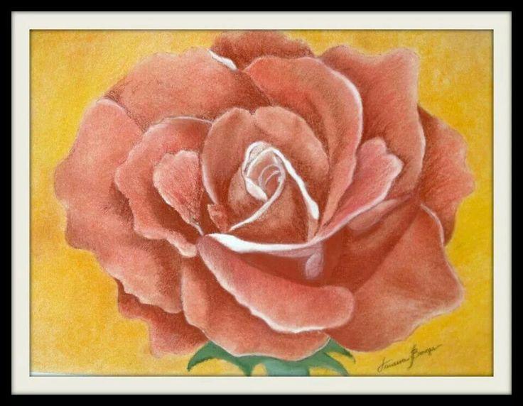 A rosa... giz pastel