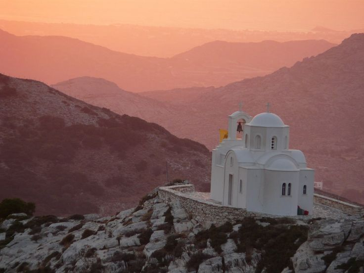 We ♥ Greece | Church in the Sunset on the mountains... #Greece #travel #explore #destination