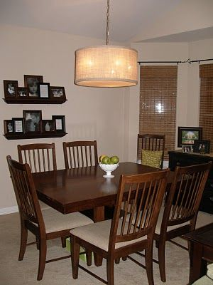 Drum Pendant Light Tutorial - for our ugly dining room chandelier