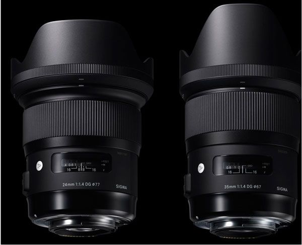 Sigma S New Large Aperture Wide Angle Lenses For Sony E Mount 24mm F1 4 Dg Hsm Art For Nightscapes Cityscapes Lowlight Indoor Photography 35mm F1 4 Dg Indoor Photography Sony E Mount E