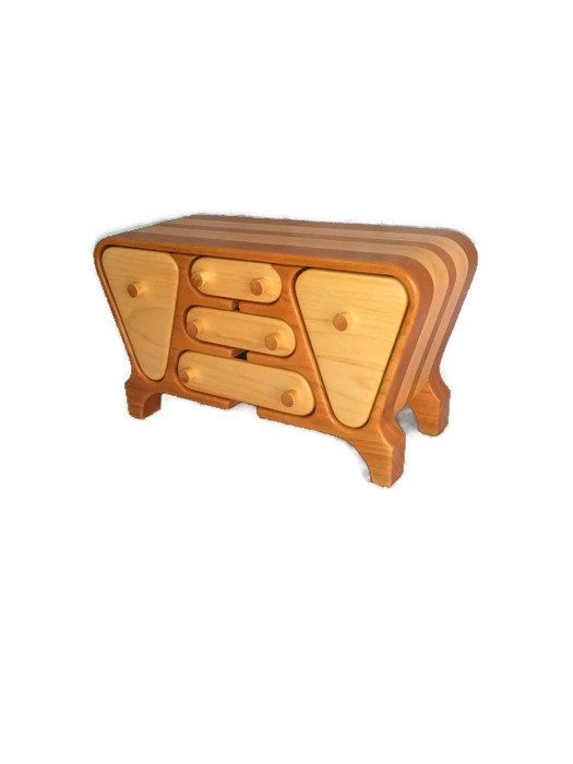 Wood Band Saw Box ~ Handmade jewelry box with a retro look bandsaw