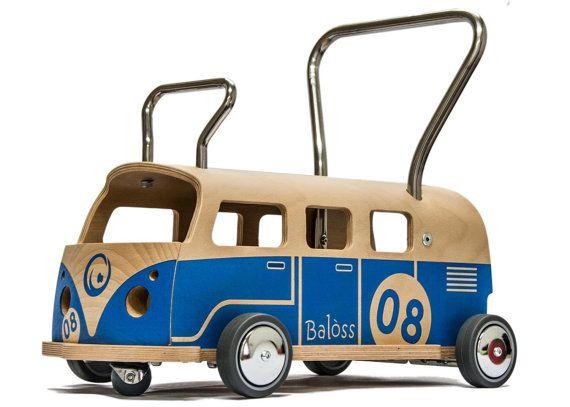 LauflernwagenRutschwagen Balòss 8 Blau by MaamuuToys on Etsy