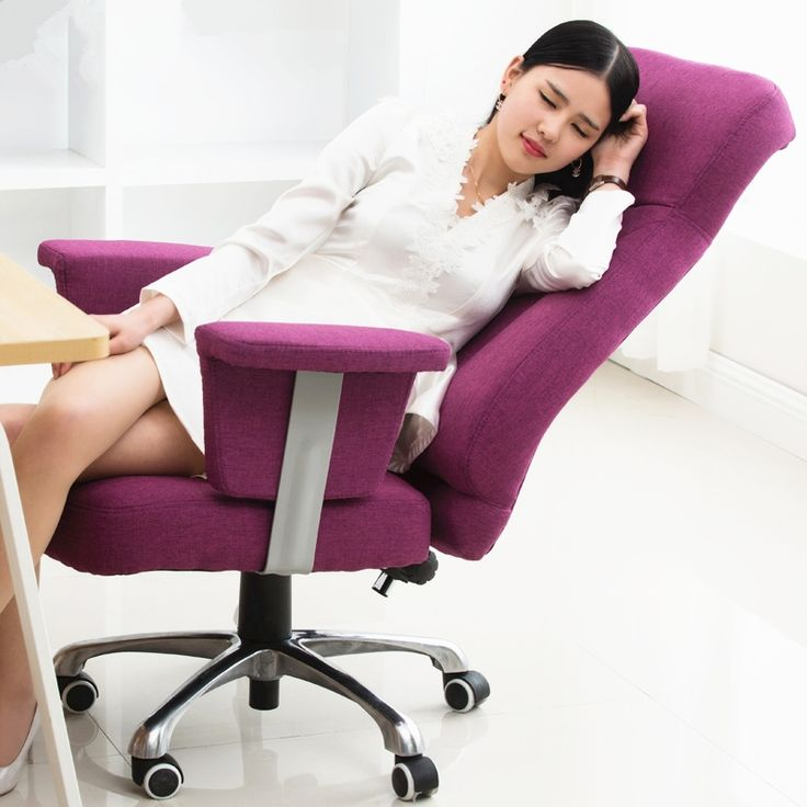 447.22$  Watch now - http://ali8wf.worldwells.pw/go.php?t=32784103892 - Luxury Fashion Leisure Comfortable Office Chair Linen Soft Liting Rotary Ergonomic Computer Chair Home Reclining Boss Chair 447.22$