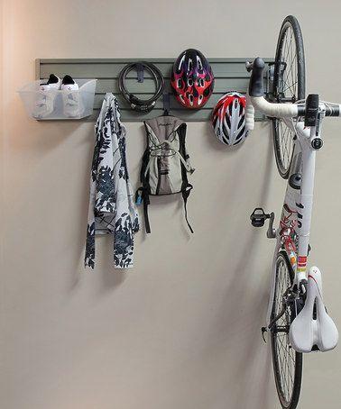 Love this Vertical Bike Storage Set by Flow Wall on #zulily! #zulilyfinds for the garage
