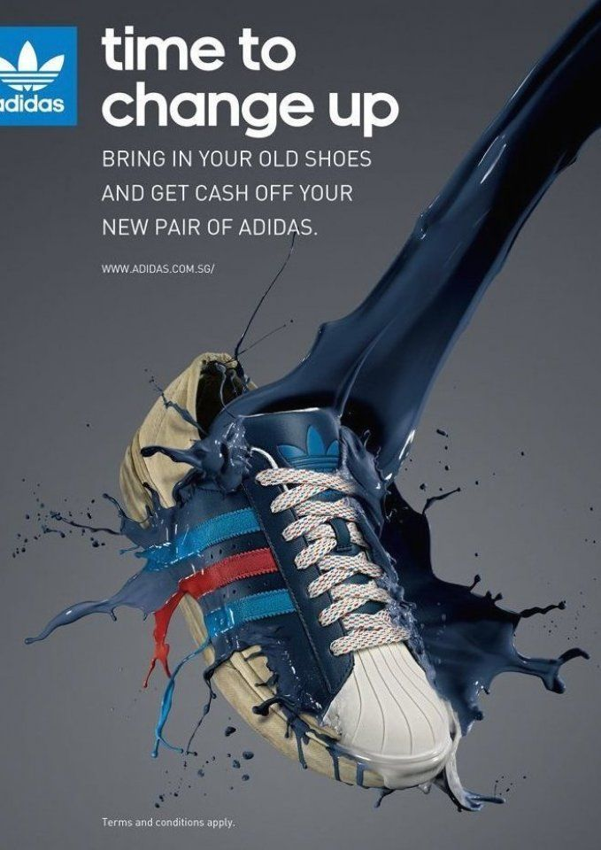 Adidas Trainer Poster Example Of Product Poster Shoe Sportproduct Sportproductdesign Sportsproductdisplay In 2020 Shoe Advertising Shoes Ads Adidas Ad