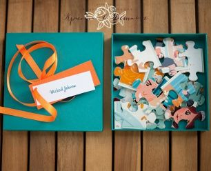 """Приглашения-пазлы от агентства """"Красота в деталях"""" Puzzle wedding invitations"""