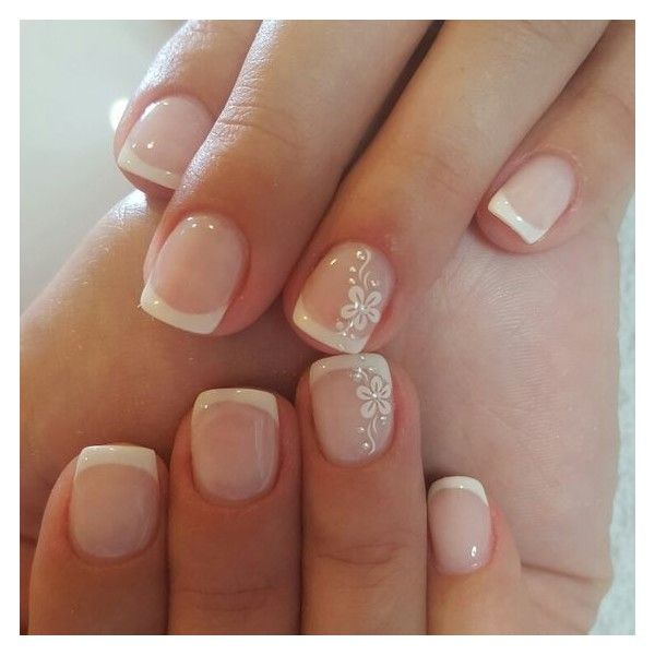 French manicures ❤ liked on Polyvore featuring beauty products, nail care and manicure tools