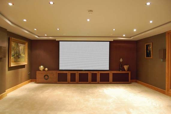 Creative Home Cinema - Specialists in home cinema design, installation and integrated home solutions - Creative Gallery - Wide Screen Cinema - Basement