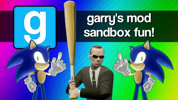 Gmod Sandbox Funny Moments - Sonic 1v1, Mcdonalds, Baseball Bat Fun, Bat...