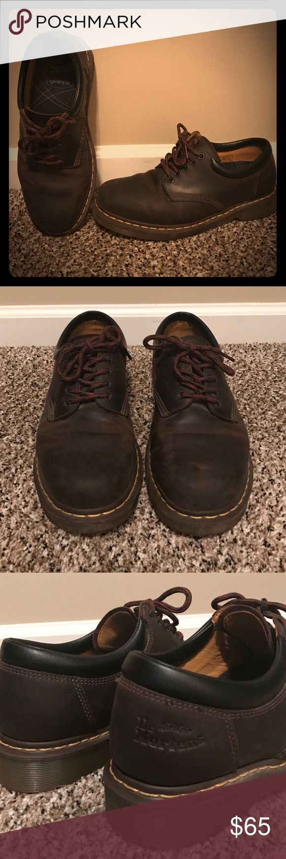 Dr Marten Men's Shoes Mens Dr Marten 8053 Harvest 5 eye leather shoes. Size 10. Used but in good condition. Inserts were replaced with Dr scholls inserts for extra padding but can be changed. Great shoe dressy or casual. Dr. Martens Shoes Oxfords & Derbys