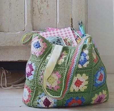 Pretty #crochet sack