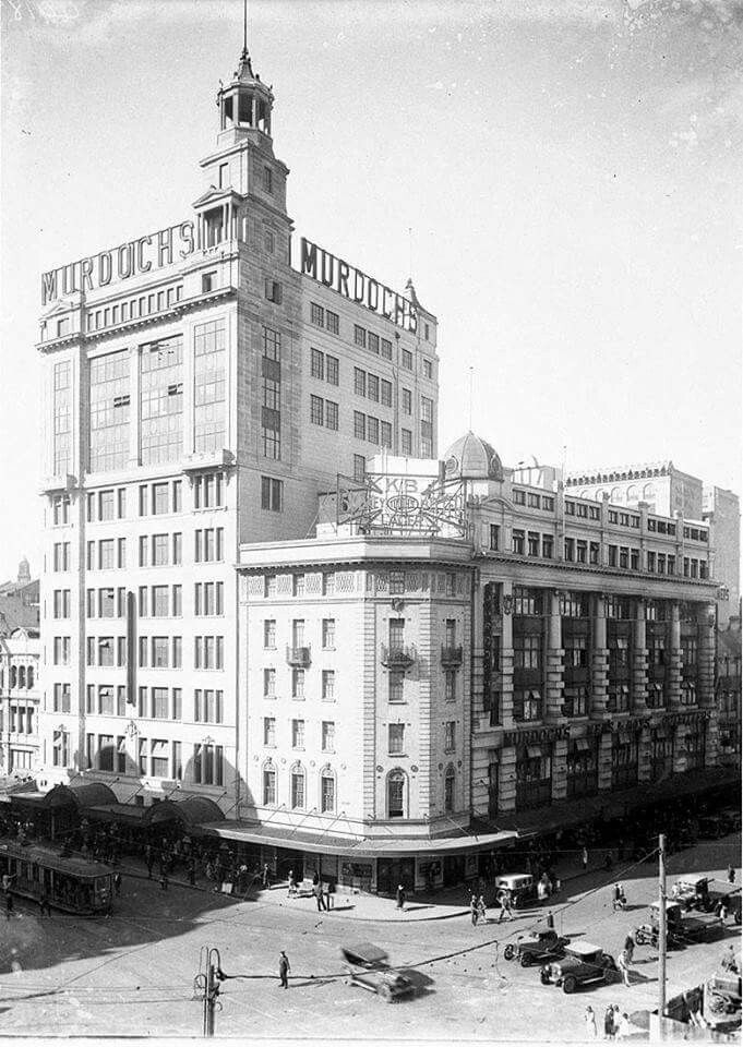 Murdoch's Department Store (later Waltons) opposite TownHall,Sydney.1928-1985.Photo from State Library of NSW.A♥W