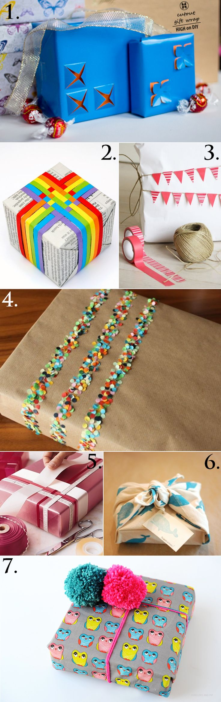 Beautiful gift wrapping ideas... I wish I could read the instructions! Lol
