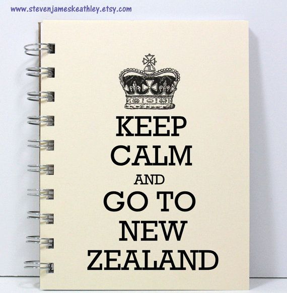 New Zealand Travel Journal Notebook Diary Sketch Book - Keep Calm and Go To New Zealand - Ivory on Etsy, $9.73 AUD