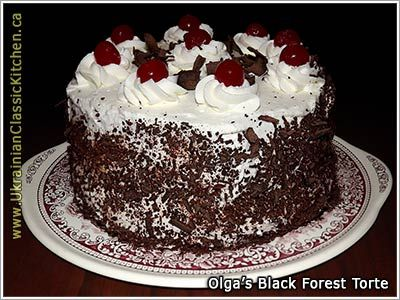 1000 images about ukrainian cake on pinterest for Black forest torte recipe