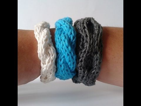 How to knit a Ring Cabled Bracelet