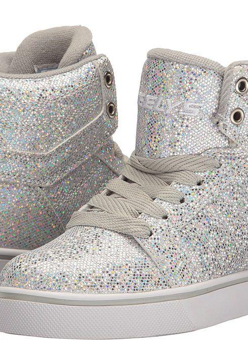 Heelys Uptown (Little Kid/Big Kid/Adult) (Silver Disco Glitter) Girls Shoes - Heelys, Uptown (Little Kid/Big Kid/Adult), 771007H-096, Footwear Athletic General, Athletic, Athletic, Footwear, Shoes, Gift, - Fashion Ideas To Inspire