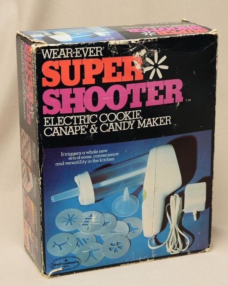 Wear Ever Super Shooter Electric Cookie Press Candy Maker Xmas Vintage Box Works #WearEver