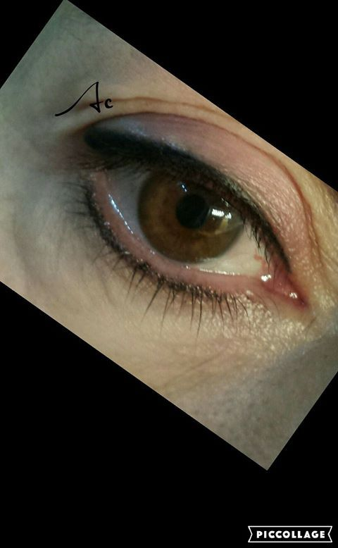 Trucco permanente linea occhi Permanent make up eyes eye liner superiore +infracigliare inferiore effetto matita sfumato naturale