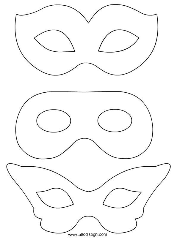 Disegni maschere di carnevale da colorare tuttodisegni for Maschere stampabili
