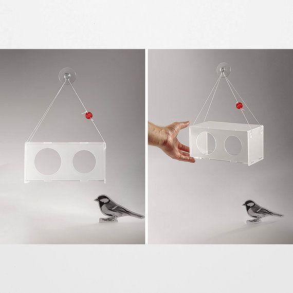 window hanging bird feeder