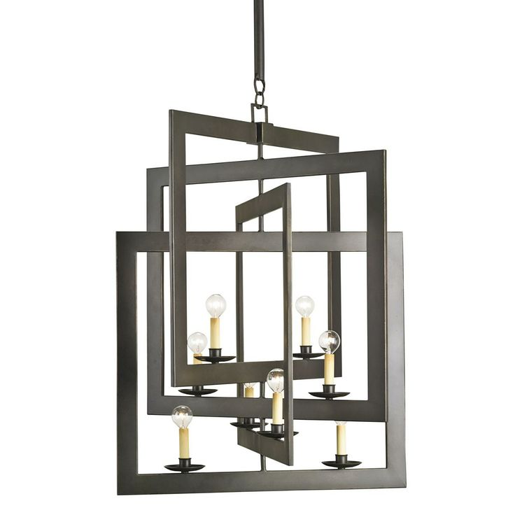 Intersecting Square Frames Chandelier Square Iron Frames