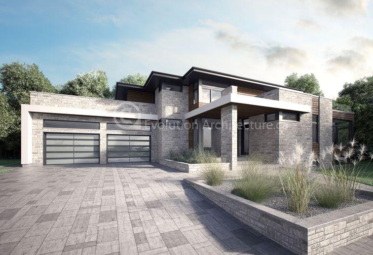 Evolution Architecture, maison bi-génération création exclusive E-837