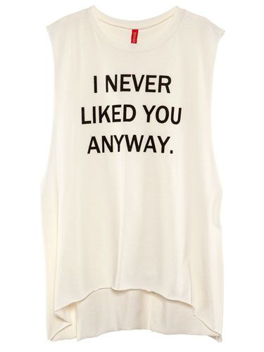 Statement Muscle Tee, $9.95
