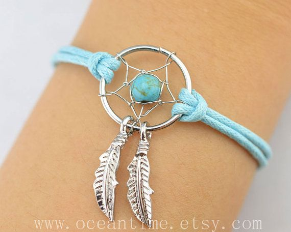 dream catcher bracelet... love the blue but would be over the top for purple!!