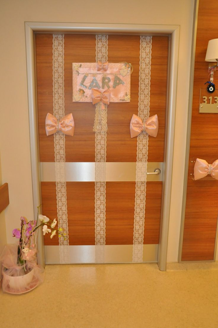 Delivery room door decoration