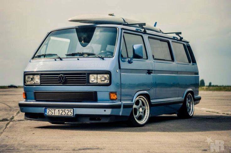Blue VW T3 Transporter