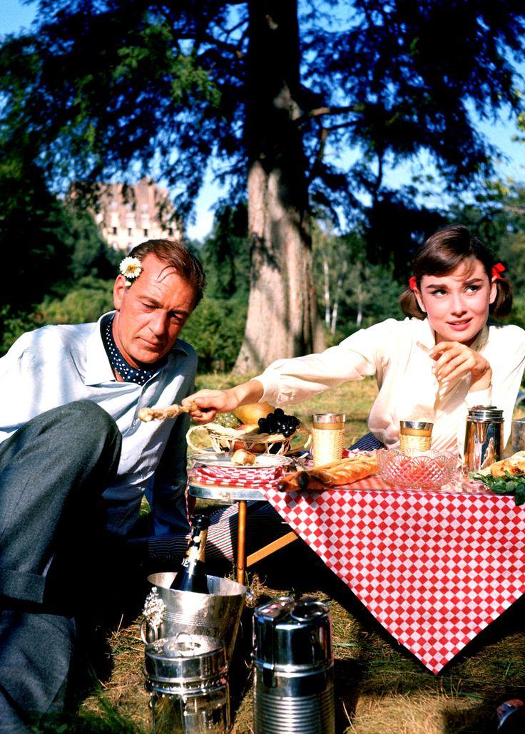 "Gary Cooper and Audrey Hepburn in ""Love In The Afternoon"" #GaryCooper #AudreyHepburn #LoveInTheAfternoon"